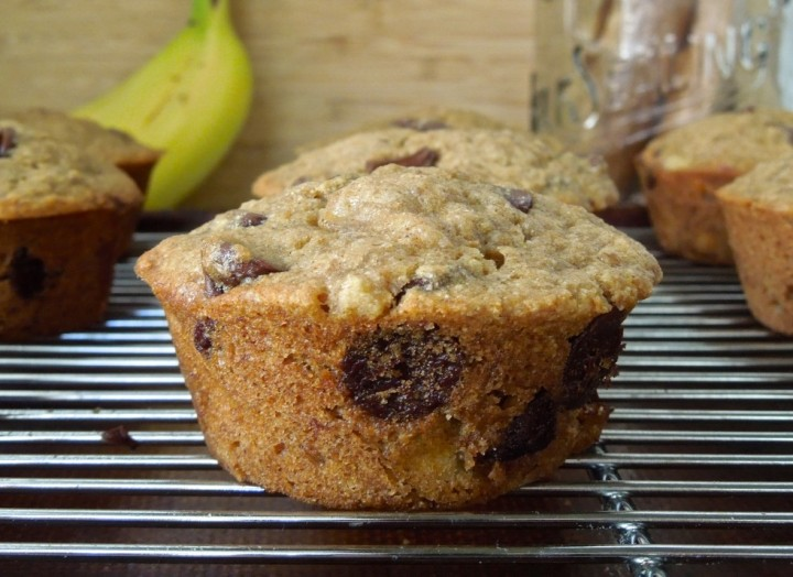 Vegan Chocolate Chip Banana Bread Muffins